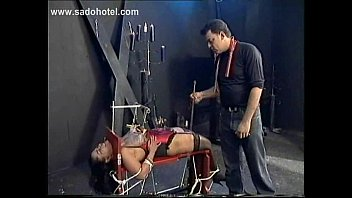 Squeezing Her Nipples Covered In Hot Wax - Amateur BDSM