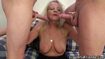My sexy granny seducing me until she reveals her grey hairy pussy