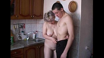 big-titted amateur teen fucked rawly in her kitchen and her puss