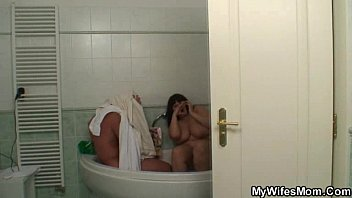 Saturday & Sunday routine, mom wakes her stepson up with a blowjob