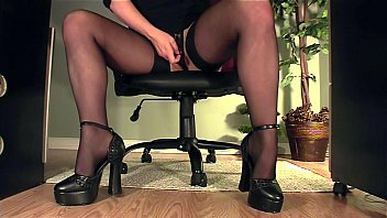 Sexy Secretary No Panties Upskirt Amazing Legs Lovense Toy